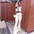 Wantmove 6 цвета S-XL плюс размер уличная комбинезон сексуальный комбинезон женщин из двух частей bodycon комбинезон 2017 лето боди XD625