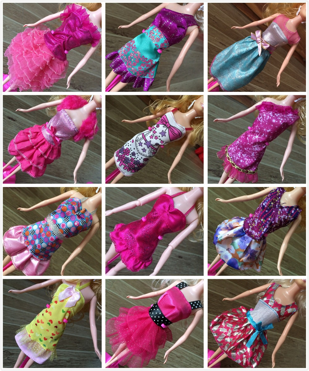 No 2 Fashionable Dress Clothes for 1 6 dolls Western style Dresses For Barbies Doll Girl