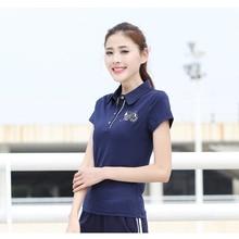 ZYFPGS 2019 Womens Polo Shirts Cartoon Logo Short Sleeve The Woman Self-cultivation Youth Fashion Cool Style Z0519