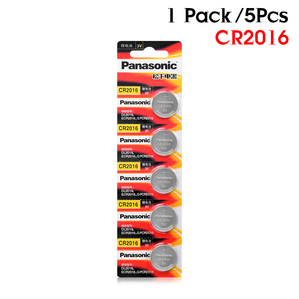 5pcs original brand new battery for PANASONIC cr2016 3v button cell coin batteries for watch computer cr 2016 Suitable Watch image