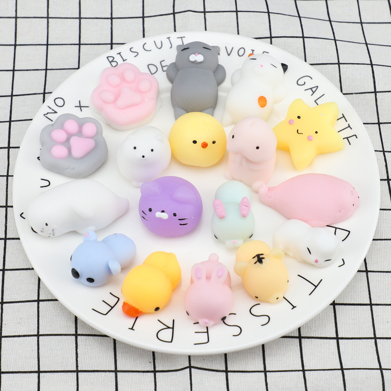 Cool Change Color Anti-stress Ball Squishy Squeeze Rising Abreact Soft Sticky Stress Relief Stretchable Cloud Toys Rabbit