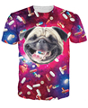 Pugs Love Drugs T-Shirt sick the happiest Pug on the planet vibrant tee pill-head Pug head space galaxy t shirt for women men