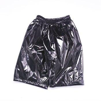 Fashion Men Shiny Metallic Shorts Night Club Dancing Wear Sexy Shorts Plus size 8XL Summer Motorcycle Metallic Short Pants X9097 1