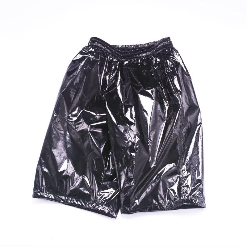 Fashion Men Shiny Metallic Shorts Night Club Dancing Wear Sexy Shorts Plus Size 8XL Summer Motorcycle Metallic Short Pants X9097