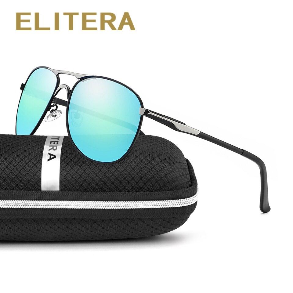 1aab26582 Elitera الرجال الاستقطاب الكلاسيكية ماركة نظارات الشمس طلاء مرآة عدسة  الرياضة النظارات ظلال E8722