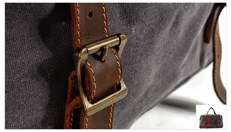 clip detail of the satchel duffle bag from Eiken