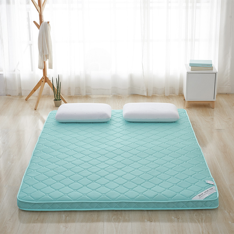 4D Breathable Soft Brighter Color Environmental Thick Warm Foldable Single Or Double Student Mattress Topper Quilted Bed