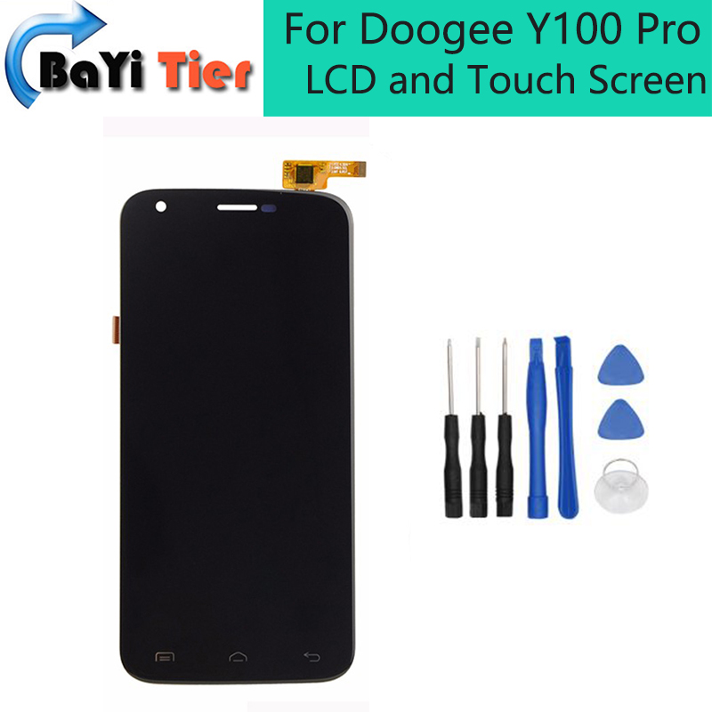ФОТО For Doogee Y100 Pro LCD and Touch Screen Assembly Repair Parts for Doogee Y100 Pro lcd screen digitizer Free shipping