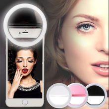 Luxury Smart Phone ring LED Flash Light Up Selfie Luminous Phone Ring For iPhone SE 7 6S Plus Samsung S7 S6 Edge LG Sony HTC