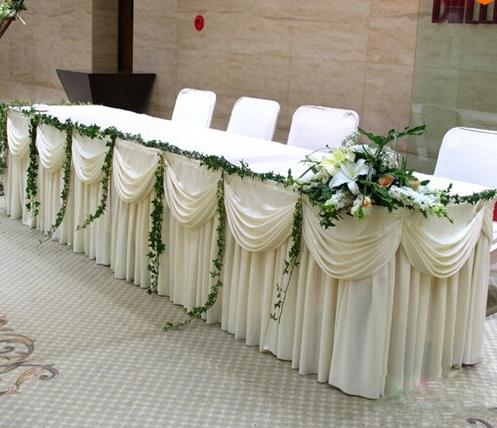 Online buy wholesale wedding table skirting from china for Quick and inexpensive wedding decorations
