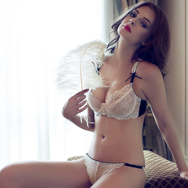 555cf9c420a1d European And American Brands Summer Slim No Pad Bra Sexy Lingerie Sexy Lace  Bra Set