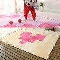30*30 centímetros crianças suave patchwork emenda do bebê carpet tapete sala de estar quarto diversão com diy montar hmoe decoração alfombra de mos