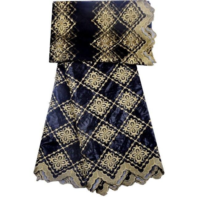 فستان دانتيل من قماش البازان الثراء الأفريقي + 2 ياردة من قماش التول الشبكي 1304B بسعر خاص عالي الجودة بطول 5 ياردات من العلامة التجارية بازن الثراء Getzner 2018