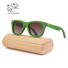 Classic fashion mens wooden sunglasses new sandwich glasses polarized TAC lens UV400 bamboo women