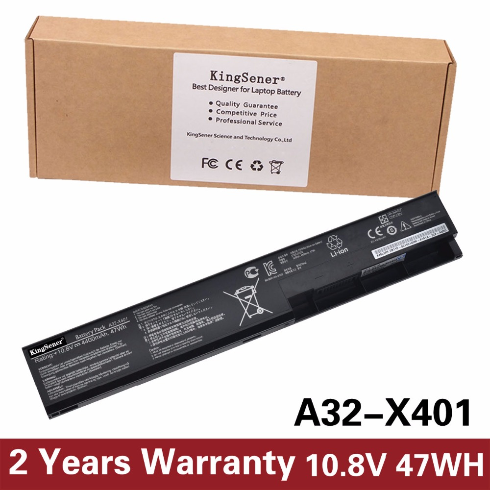 Korea Cell KingSener A32-X401 Battery for ASUS F301 F401 X301 X301A X401 X401A X501 X501A A31-X401 A41-X401 A42-X401 4400mAh аккумуляторная батарея ibatt ib a696 4400 мач совместима с asus a32 x401 a42 x401 a41 x401 a31 x401 cs aux401nb