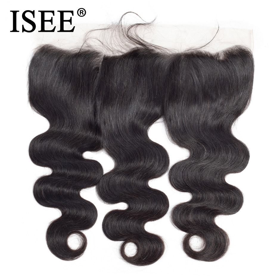 ISEE HAIR Brazilian Body Wave Lace Frontal Closure 13*4 Swiss Lace - Human Hair (For Black) - Photo 2