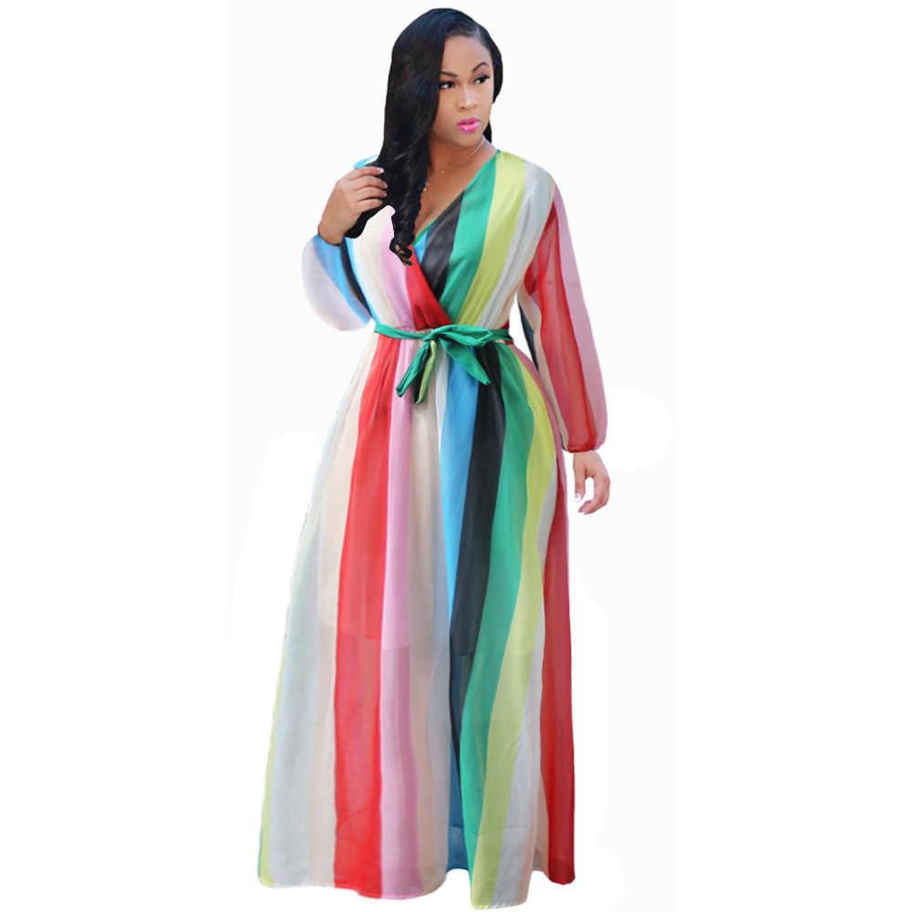 2018 Summer Women Maxi Dress Floral print Chiffon Plus Size boho style  vestidos Elegant Beach Long 2ca074d20b52