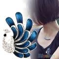 2016 Women Korean Fashion Elegant Crystal  Peacock Love Rhinestone Brooch Pin Gift  07NI 7FEM 88XL
