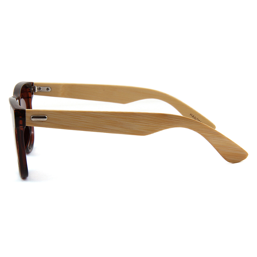 Design Sonnenbrille Uv400 Marke Objektiv Shades Retro Brille Bambus Frauen Holz Anti Lens Brown Willenskraft Männer Braun H0pwpq