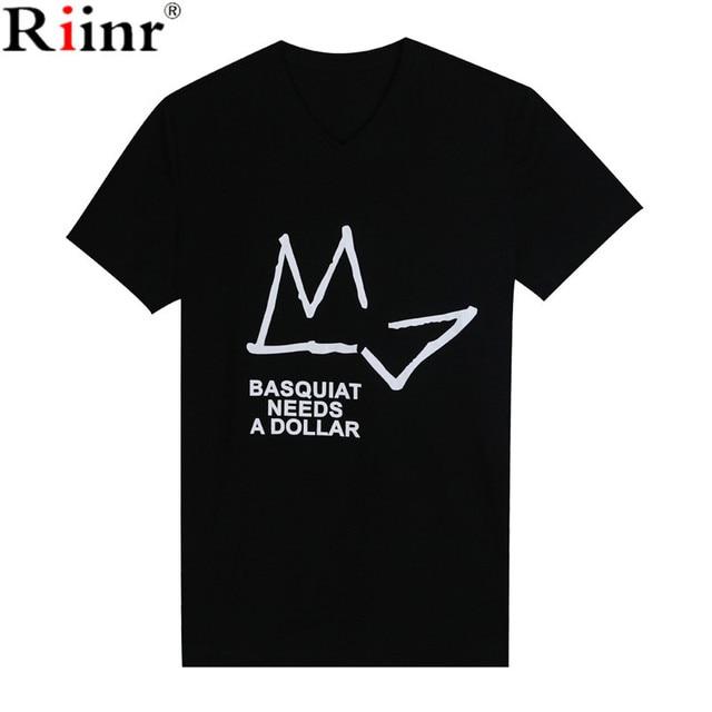 49f57b332 Riinr 2017 New Summer Creative Tee Shirts Men Cotton Short Sleeve Loose Tops  Tees Cartoon Streetwear