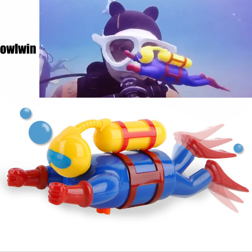Bath Diver Toy Wind Up Clockwork Swimming Simulation Potential Diver Sea Baby Bath Toy Baby Kids Dabbling Bathing Toy