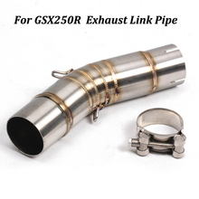 For Suzuki GSX250R Motorcycle Exhaust Muffler Modified Middle Connection Stainless Steel Link Pipe Slip On motorcycle muffler stainless steel exhaust motorcycle muffler exhaust pipe for suzuki hayabusa gsxr1300 gsx650f gsf650 bandit
