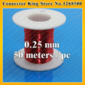 Free shipping Polyurethane enameled Wire Copper Wire enameled Repair 0.25mm*50m / pcs QA-1-130