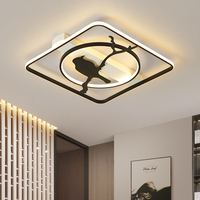 Best Hot Modern Led Chandelier For Living Room Bedroom Dimmable RC Round Rectangle Ceiling Chandelier White/Black Color Fixtures
