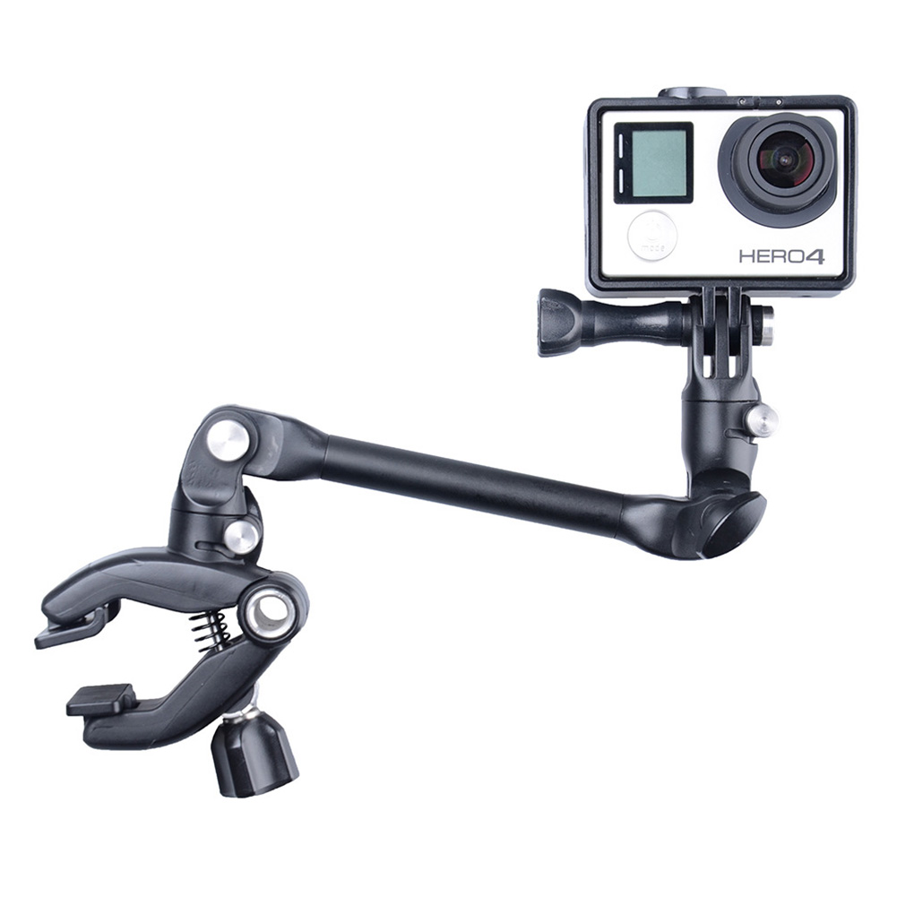 Guitar Drum Clips 360 Rotate Collapsible Monopod Mount Camera Grip Extension Arm Tripod for Gopro Hero 5 4 3+ 2 1 SJ4000 XiaoYi