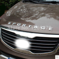 for KIA SPORTAGE R for kia sportage 2013 2014 2015 Aluminum alloy front cover letters car decorative stickers car accessories