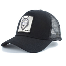 New Wolf Animal Embroidery Baseball Cap Men Women Hip Hop Snapback Dad Hat Summer Breathable Mesh Trucker Bone