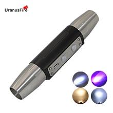 Chuyên Gia Ngọc Đèn Pin Sạc USB UV LED 395NM/365nm Ánh Sáng Tím 4 Tập Tin Tia Cực Tím Đèn Pin Cho Ngọc Trang Sức Hổ Phách tiền