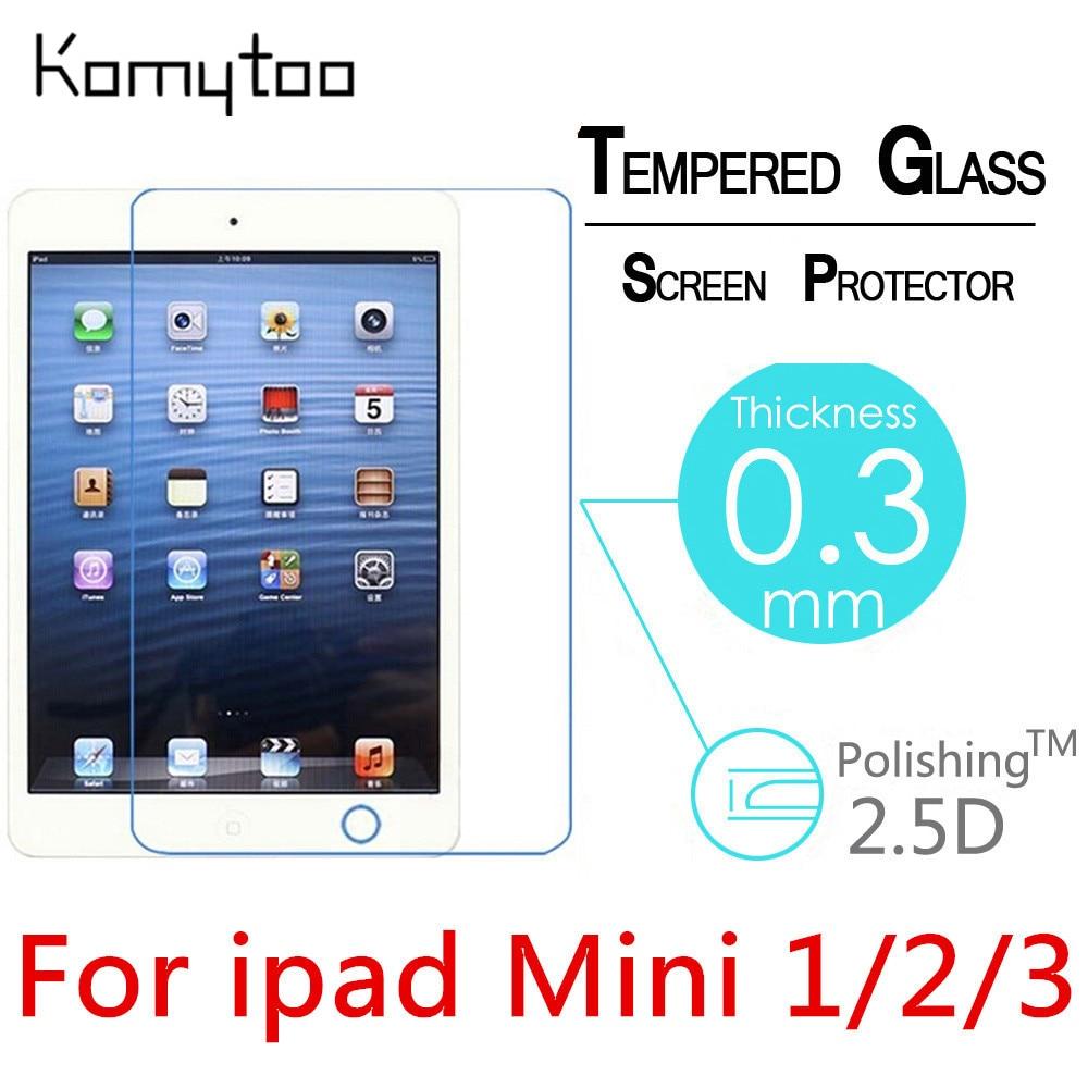 Цена за 10 PCS 9 H 0.3 мм взрывозащищенные toug H затянуты закаленное стекло для Apple Ipad Mini 1/2/ 3 Tablet PC фильм HD Clear Экран защитную крышку