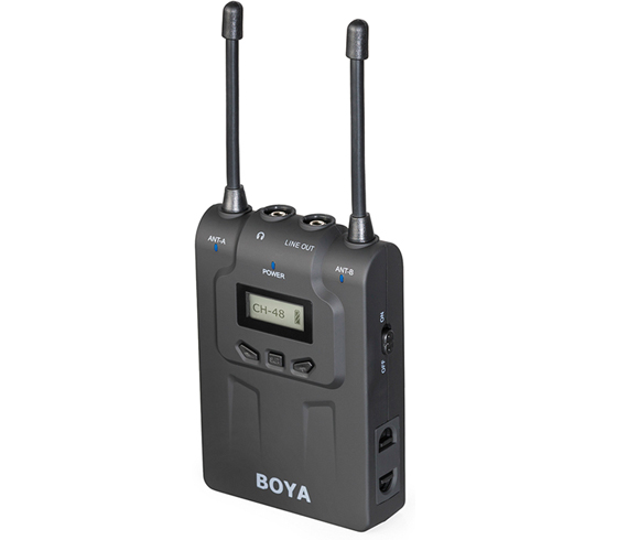 BOYA BY-WM8R Dual-Channel Wireless Bodypack Receiver  for BY-WM8 Lavalier Microphone ENG EFP for Canon Sony DSLRBOYA BY-WM8R Dual-Channel Wireless Bodypack Receiver  for BY-WM8 Lavalier Microphone ENG EFP for Canon Sony DSLR