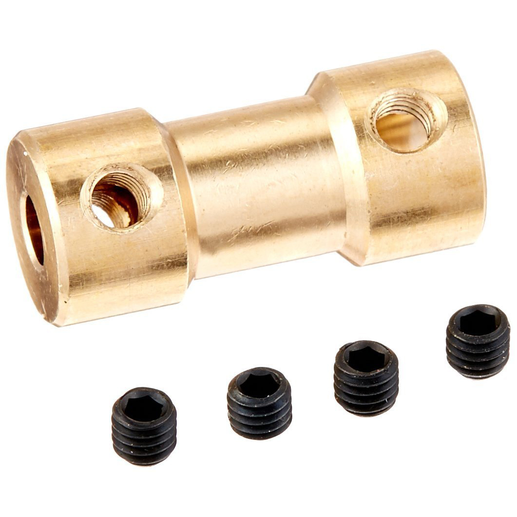 цены RC Airplane 3mm to 5mm Brass Motor Coupling Shaft Coupler Connector