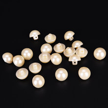 20PCS 9/10/11.5/12.5/15mm Pearl White Resin Buttons Coat Boots Sewing Clothes Button Scrapbooking Garment DIY Apparel(China)