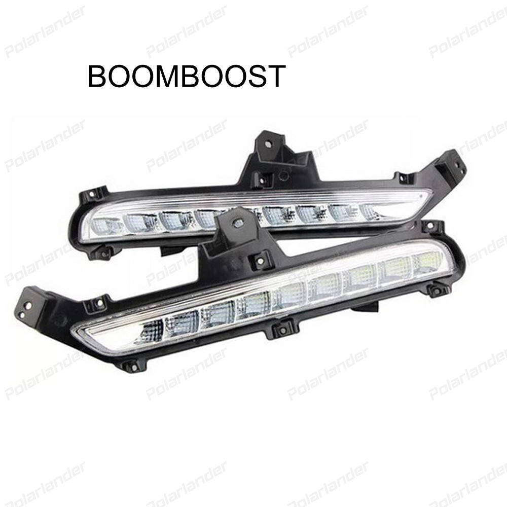 BOOMBOOST 1 set car accessory with fog lamp Car styling daytime running lights For Kia/K2/RIO 2014-2015