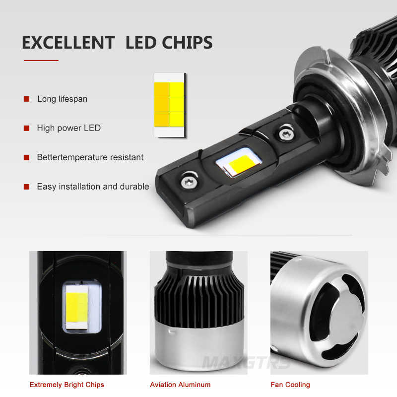New 3 Colors Changing LED Bulb Headlight Fog Light H7 H8/H9/H11 9005 HB3 9006 HB4 9012 3000K/yellow 4300K/warm 6000K/white