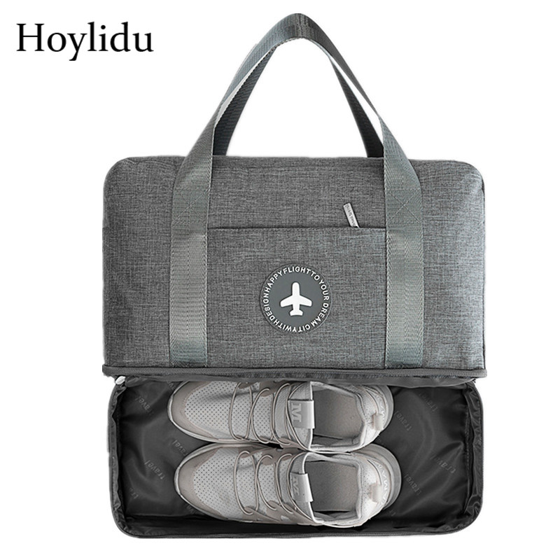 Oxford Unisex Large Capacity Travel Bag Organizer Waterproof Clothes Duffle Bag Men Luggage Soft Tote Dry Wet Separation Package