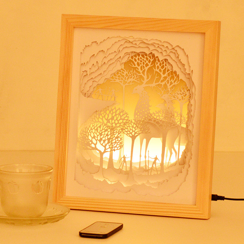 Creative Desk lights Wood Photo Frame Night Lights Led Light Fixtures for Baby Children Kids Room Bedroom Led Decorative lamp yimia creative 4 colors remote control led night lights hourglass night light wall lamp chandelier lights children baby s gifts