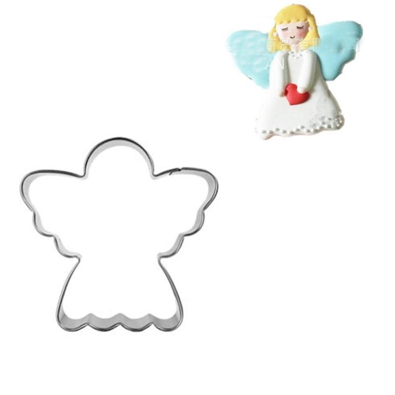 1db rozsdamentes acél angyal fém cookie vágó szerszámok - Konyha, étkező és bár - Fénykép 1