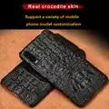 Voor huawei p20 lite case High end natuurlijke krokodillenleer shockproof phone case voor huawei P30 P30 Pro High end beschermhoes
