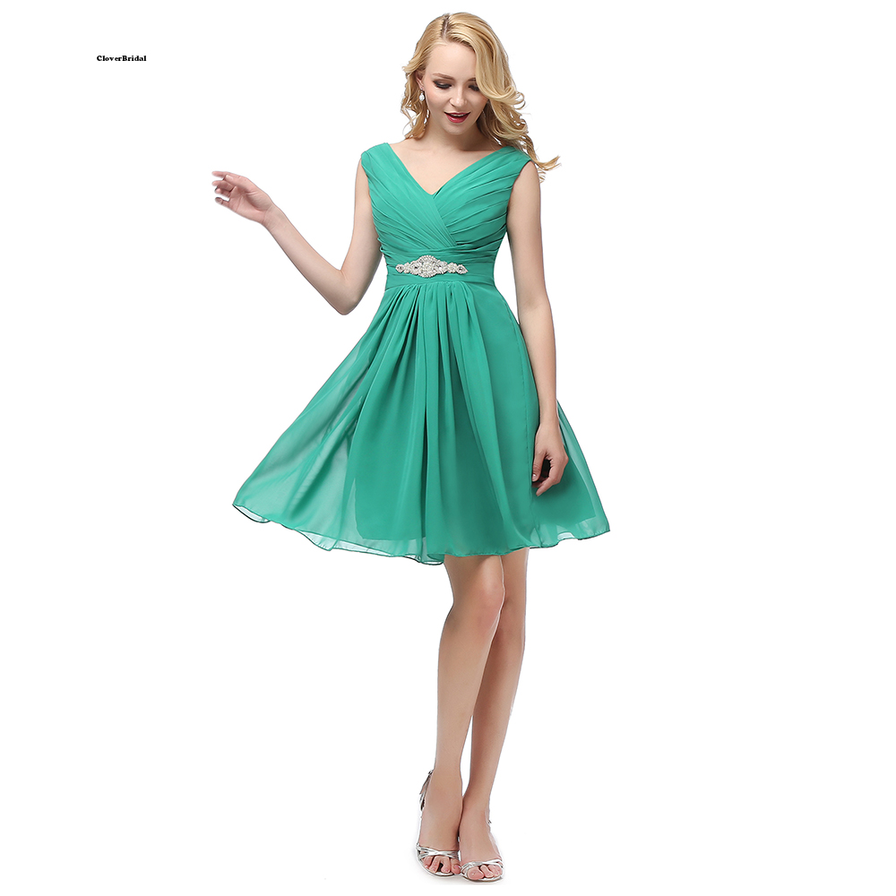 En stock pas cher vraies photos 8 grade graduation robes col en V court moins de $40 USD taille 2-22 W 9 couleurs expédition rapide