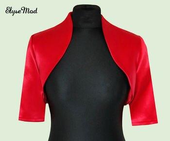 Hot Sale Classic Design Formal New Women Red Wedding Prom Satin Bolero Shrug Plus Size Women Jacket S M L XL XXL 2018