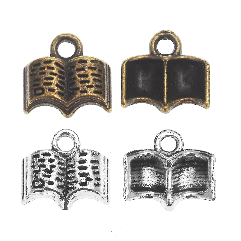 2 x Tibetan Silver Large Bird Head Skull Pendant Necklace Pendant Beading R148