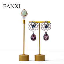 FANXI Metal Earring Display T Shape Dangle Earring Support Jewelry Ring Rack Display Organizer Showcase