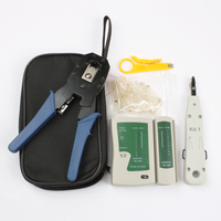 6 in 1 Network Ethernet Cable Tester RJ45 Kit RJ45 Crimper Crimping Tool Punch Down RJ11 Cat5 Cat6 Wire Line Detector 8P8C RJ45 Hand Tool Sets     -