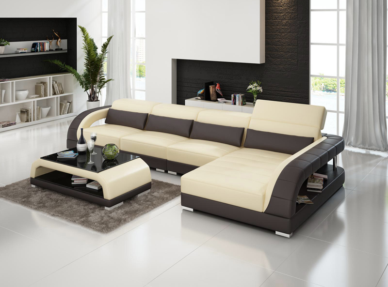 Small Size New Design Living Room Genuine Leather Sofa