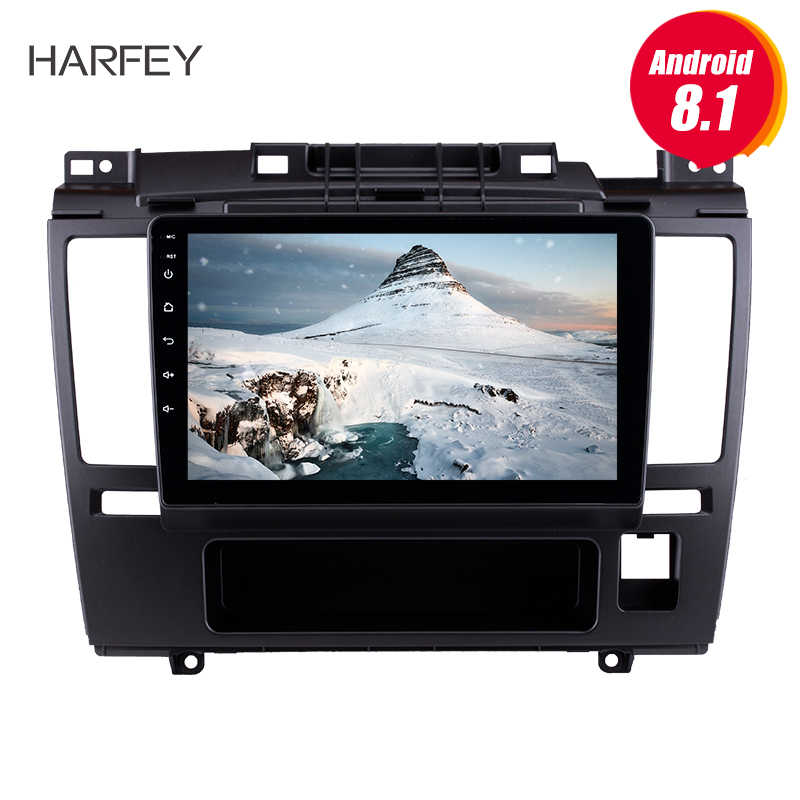"Harfey HD écran tactile voiture Radio GPS Navigation Android 8.1 9 ""pour 2005 2006 2007-2010 Nissan Tiida avec Bluetooth AUX Wifi"
