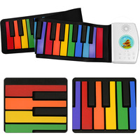 Multi Color Flexible 49 Keys USB Flexible Roll up Roll up Electronic Piano Keyboard Professional
